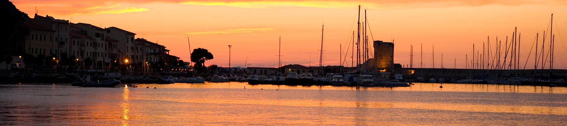 A sunset in Marciana Marina